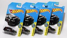 FORD FOCUS RS * LOT OF 4 * 2017 HOT WHEELS * BLACK WITH RED & WHITE KONI DECO