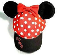 NWT Authentic Disney Parks Minnie Ears Hat Youth Kids Size