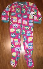 NEW! TCP 'OWL' Baby Girls 1 Pc Footed Pajamas PJ 3T Blanket Sleeper Gift! $16.95