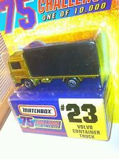 Matchbox VOLVO Container Truck 75 Challenge Limited #/10k 1997 #23 GOLD NMC