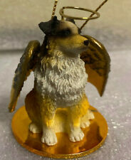 Australian Shepherd Dog Angel Christmas Tree Ornament Tiny Ones Euc
