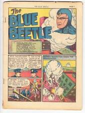 coverless THE BLUE BEETLE #3 - Golden Age comic - 1940