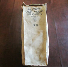 Vintage Halls Canvas Linemans Glove And Tool Bag 27 Long Good Shape Free Ship