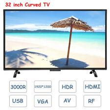 32 inch Curved Screen Smart TV 3000R Voice Television HDR HDMI USB VGA AV RF