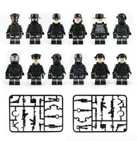 Custom Police SWAT Minifigures Set Guns Soldiers Police Military Army & Weapons