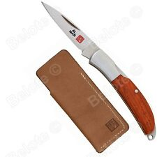 """Al Mar Osprey Folder Cocobolo Scales, Leather Pouch, 3.95"""" Overall, 0.5oz, 1001C"""