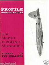 Aircraft Monograph - Martin - B-26 B C Marauder - Profile Facts Summary (MN105)