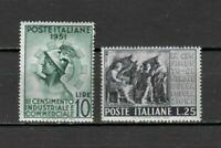 s33665 ITALIA  MNH** 1951 Censimento 2v