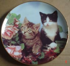 Danbury Mint Collectors Plate ROSE BUDDIES Kitten Cat