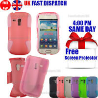 SHOCK PROOF HYBRID SILICONE CASE FOR Galaxy S3 mini i8190