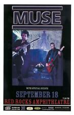 MUSE RED ROCKS 2007 CONCERT POSTER COLORADO
