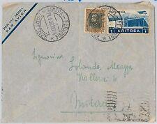 56241 - ERITREA - STORIA POSTALE : BUSTA da ASMARA   a MILANO 1938