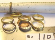 8 Vtg Genuine Raw Brass Band Rings 7x4mm Ladys Size 7 Craft Lot Jewelry Findings