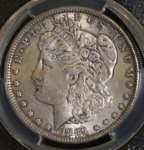 1889 Top 100 VAM 19A PCGS AU 58 Bar Wing Doubled Reverse Morgan Silver Dollar
