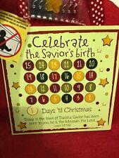 Christmas Card & Photo Holder Celebrate The Savior'S Birth Calendar