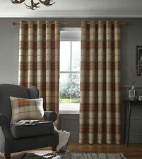 Catherine Lansfield Polyester Checked Curtains & Pelmets