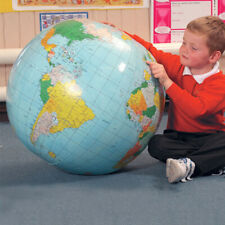 40cm Inflatable Blow Up Globe Atlas World Map Earth Beach Ball Geography Toy New