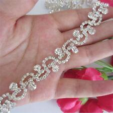 Diamante Chain Trim Crystal Clothes Applique Wedding Bridal Dress Diamond Ribbon