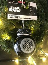 """Black Droid Hallmark Star Wars Last Jedi BB-9E Blown Glass Christmas Ornament 3"""""""