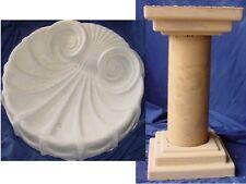 Seashell Birdbath Stand Mold Set Concrete Plaster Cement Mold 8505 Moldcreations