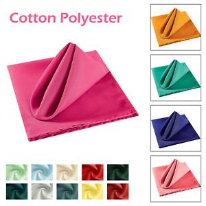 Polyester Soft Fabric Napkins Serviettes Machine Washable Wedding Table Decor