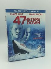 47 Meters Down (Blu-ray+DVD+Digital, 2017; 2-Disc Set) NEW w/ Slipcover -Sharks!