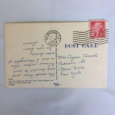 Birch Tree Cottage Lake Postmark Newtonville Massachusetts 1958 Posted Postcard