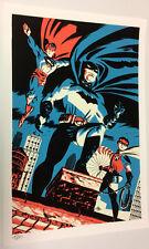Michael Cho SIGNED DC Comic Worlds Finest Fine Art Print ~ Superman Batman Robin