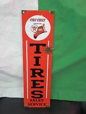 Antique style-porcelain look Texaco Fire chief tires oil dealer gas pump sign