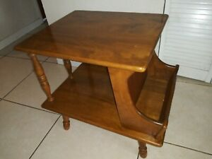 American Traditional Solid Maple Wood End Table Magazine Rack 108301 Ethan Allen