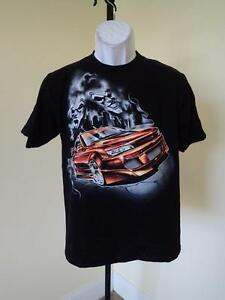 New - Graphic Car  Youth Large (L)  Black T- Shirt