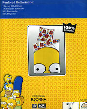 E64  The Simpsons Renforce Bettwäsche 135 x 200 2 Tl.