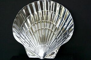 "6"" Tiffany & Co .925 Sterling Silver Footed Seashell/Scallop Shell Bowl/Dish"