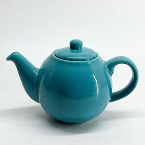 Vintage London Pottery Globe Teapot - Tea For One - Retro Blue  <D104
