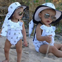 Newborn Baby Girl Romper Anchor Bodysuit Jumpsuit Outfits Sunsuit Summer Clothes