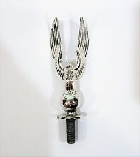 """Vintage Silver Plated Metal American Bald Eagle Trophy Topper Trim - 2.5"""" Tall"""