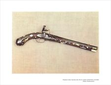 Pistolet à silex fût crosse incrustations période Restauration ILLUSTRATION 1964