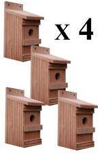 4 x Nistkästen für die Vögel,Nistkasten,Vogelhaus aus Holz,  Super-Set, 11-O-4