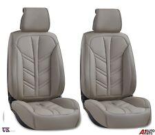 Luxus Qualität Grau Kunstleder 1+1 Vorne Sitzbezüge Gepolstert Für
