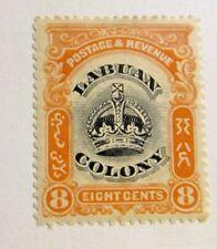 LABUAN COLONY Sc# 102 * MH , 8¢, postage stamp, fine +