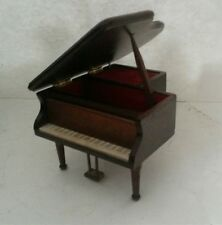 Vintage Schmid Music Box Wood Grand Piano Plays Beethoven Piano Concerto