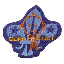 BORN 2 SCOUT EMBROIDERED IRON ON BADGE