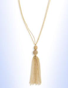 """PANACEA Golden Chain Tassel 30"""" Long Pendant Necklace"""