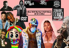 New 2020 Rap Hip Hop & RnB 160 Music Video, 4 Dvds Pop Smokes Gunna DaBaby Drake