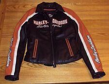 Rare Harley Davidson  Genuine Leather Jacket Women's Small