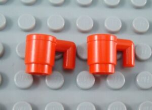 LEGO Lot of 2 Red Kitchen Drinking Cups Minifigure Accessory
