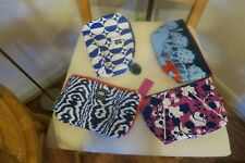 """Estee Lauder make up (4)-bags Assorted colors Blue red purple 9""""X 6"""""""