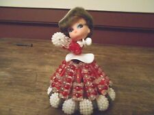 Vintage Unique Hand Made Pin And Bead Doll