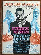 JAMES BOND 007 - LIEBESGRÜßE AUS MOSKAU   seltenes 1.WA Plakat 1967/68 GEROLLT!