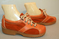5 RUST Smooth SUEDE LEATHER NOS Vtg 70s PLATFORM BALL SOLE BOHO OXFORD TIE SHOE